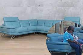 R70k blue sofa looted during the unrest in Durban has been found